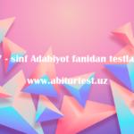adabiyot 7 sinf test